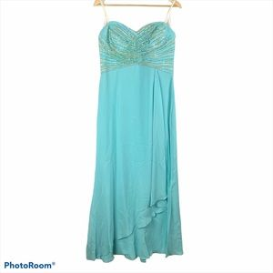 Daymor Couture Silk Beaded Gown Prom Dress 10